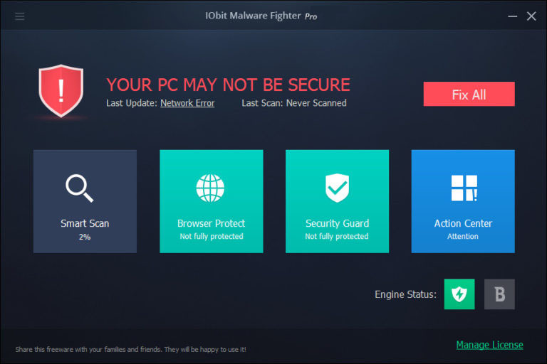 IObit Malware Fighter Pro 7.7.0.5872 Crack With License Key Full Version 2020 Download